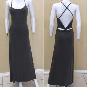 Dresses & Skirts - Grey Crisscross Back Fitted Tank Dress